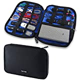 #5: GoFree Digital Accessories Organizer Pouch / Case - For Multiple USB Cables, Charger, Power Bank, SD Cards, Pen Drive, Battery, Stationary, Emergency Items etc.