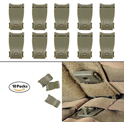 ZENDY Mehrzweck MOLLE Clip Taktische Strap Management Tool Web Dominator Schnalle Zubehör für Taktische Tasche, Rucksack (Braun) (Clip-tool, Tasche)
