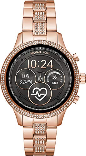 Michael Kors Womens Digital Connected Wrist Watch with Stainless Steel Strap MKT5052