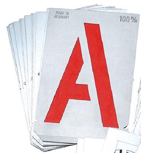 Gravurem 7000600B Signierschablonen Buchstabensatz in Schrifthöhe 60mm