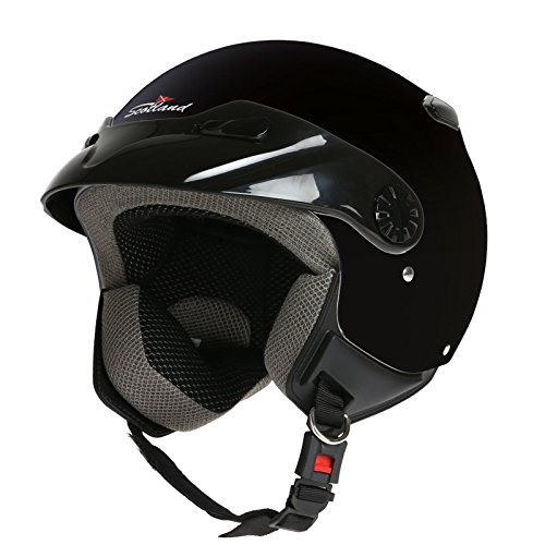 Rodeo Drive - Casco para moto, modelo Easy, color negro, talla XL