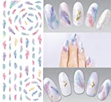Nail Art Wasser Transfer Sticker Nail Sticker Tattoo Feder - DS271 Nail Sticker Tattoo - FashionLife