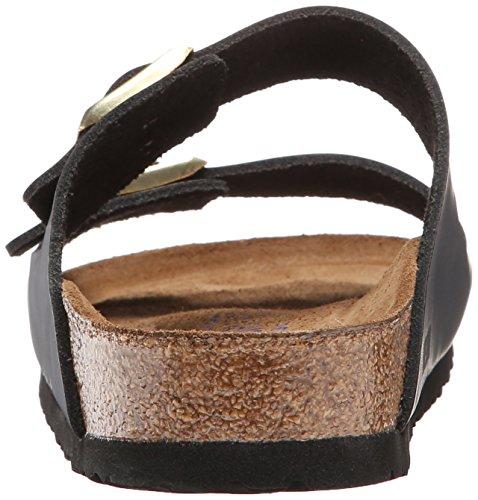 Birkenstock Classic ARIZONA FL 52533 Unisex-Erwachsene Clogs & Pantoletten Hunter Black Leather