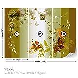 Carta da parati Fiori Design Foto Foto Wallpaper murale, Tessuto, XXL - 312cm x 219cm (3pc)