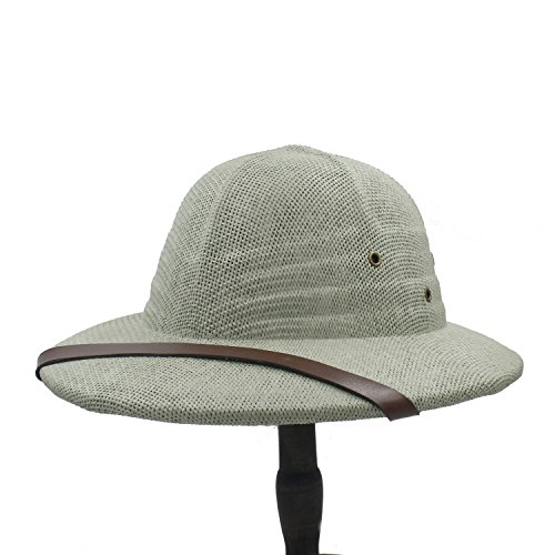ZHLL- Mützen Neuheit Toquilla Stroh Helm Pith Sonnenhut für Männer Vietnam Krieg Armee Hut Papa Boater Bucket Kopfbedeckungen (Farbe : 5, Größe : 56-59CM)
