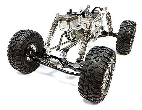 Integy RC Modell Tuningteile C24966SILVERT5 V2 Billet Machined 1/10 Trail Racer 4WD All Terrain Scale Crawler ARTR