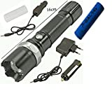 Alexvyan 800M Zoom Torch Tactical Led Rechargeable With 18650 Battery Flashlight Tourch Zoom