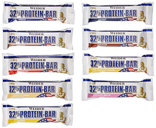Weider 32% Protein Bar, Mix-Box, 1er Pack (24x 60g Riegel)