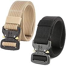 HOTSO 2 Pack Nylon Cinturón Táctico 3461fa86a615