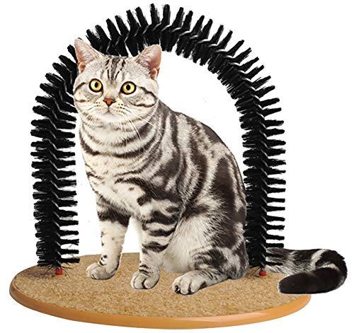 Morezi Weicher Kamm für Haustiere, Katzen, mit Bürste zum Selbstmassage, Bürste für Katzen und Katzen