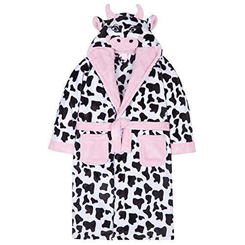 Minikidz 4Kidz Filles Polaire Peluche Nouveauté Vache Robe de Chambre à  Capuche - Imprimé Vache e40370c80