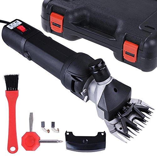 ReaseJoy 380W Electric Sheep Wool Shears Goat Grooming Clippers Hair Fur Shearing Clipping with Carrying Case Black Test