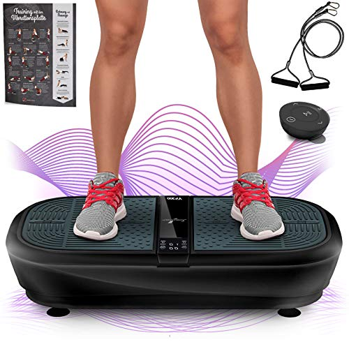 Sportstech Professional Vibration Plate VP300 with 3D Spiral Vibration Technology + Bluetooth...