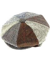 Harris Tweed Mens 8 Piece Baker Boy Cap - Handwoven In Scotland by Glen Appin