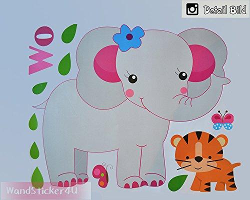wandsticker4u-pegatinas-de-pared-world-of-animal-efecto-de-160-x-100-cm-diseno-mono-elefante-leon-ji