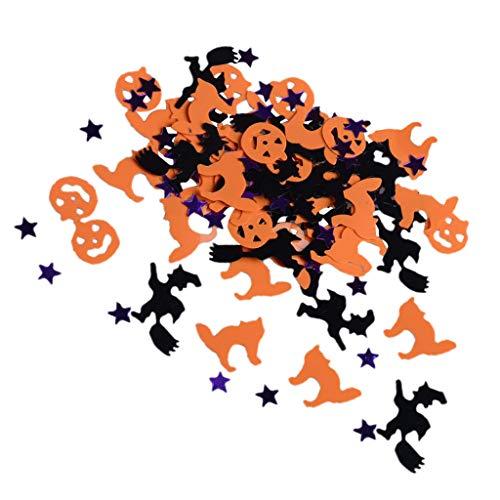 FLAMEER 30g Tischkonfetti Streudeko Streuartikel mit Halloween Stil Figur, Schwarz und Orange