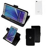 K-S-Trade® Hülle Schutzhülle Case Für -Cubot X15- Handyhülle Flipcase Smartphone Cover Handy Schutz Tasche Bookstyle Walletcase Schwarz (1x)