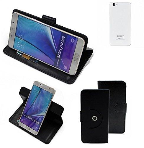 K-S-Trade® Case Schutz Hülle Für -Cubot X15- Handyhülle Flipcase Smartphone Cover Handy Schutz Tasche Bookstyle Walletcase Schwarz (1x)