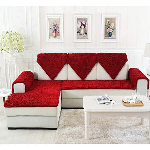 Unbekannt Sofa Handtuch, Sofa Kissen Verschlüsselung Chenille Europäischen Ledersofa Rutschfeste Jahreszeiten Plüsch Stoff Sofa Handtuch A (Farbe : #15, größe : 50 * 150CM(20 * 59inch))