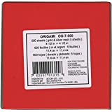Aitoh Origami Paper 4.5-inch x 4.5-inch 500 Sheets-18 Colors