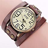 Hot Selling! CCQ Brand Vintage Cow Leather Bracelet Watch Men Women Wristwatch Quartz - B07H76M5Z2
