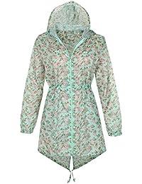 Cindy Festival Printed Fishtail Mac Raincoat Jacket (Large, Mint)