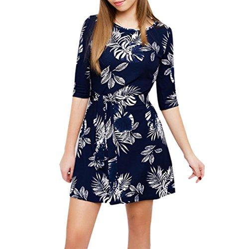 UFACE Damen Mode über Knie Minikleid halbe Hülsen Feste Beiläufige Lose Partei Kleid Party Kleid Cocktailkleider Rockabilly Kleid (Pullover Jessica Jersey)