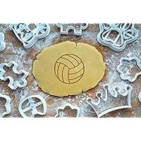 Volleyball 5cm Präge-Ausstecher Sport Ausstechform 3D Keksausstecher Backen Plätzchen Cookie Cutter Fondant