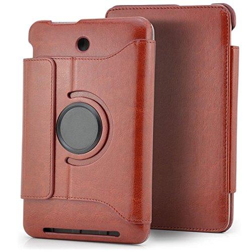 Saxonia. Tablettasche + Eingabestift für ASUS MeMO Pad HD 7 ME173X Premium Slim Tablet Tasche Braun