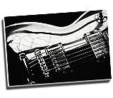 Gitarre, Schwarz und Weiß Musik abstrakt modern Wall Art Print auf Leinwand Bild Kunstdruck auf Leinwand groß A176,2x 50,8cm (76.2cm x 50.8cm)