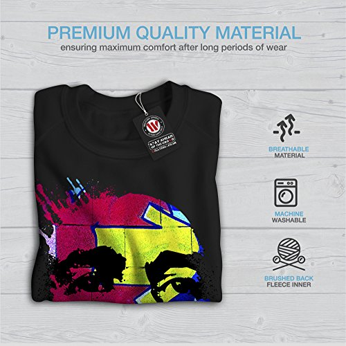 Bob Marley Éclaboussure Femme S-2XL Sweat-shirt | Wellcoda Noir