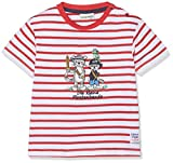 SALT AND PEPPER Baby-Jungen B Pirat Stripe Bande T-Shirt, Rot (Red 358), 92