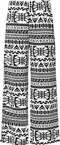 WearAll - Grande taille floral imprimé pantalons jambe large palazzo - Pantalons - Femmes - Tailles 44 à 54 Aztec