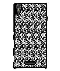 PrintVisa Designer Back Case Cover for Sony Xperia T3 (Multi diamond pattern Classy arnamonds design)