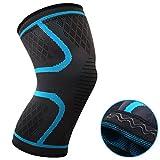 oxoxo med Leichte Kniebandage mit ergonomischer Passform durch 3D-Stricktechnik – kein Verrutschen dank Silikon-Wellen im Saum und Stabilität für Meniskus und Patella