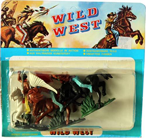 WILD WEST Figurenmodelle (Indianer vs. Cowboys): 6 Figuren in Blisterverpackung Set 3