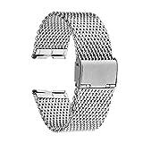 TRUMiRR Bande de Montre Bracelet en Acier Inoxydable 22mm pour Motorola Moto 360 1...