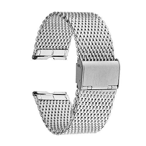 TRUMiRR Milanese venda de reloj de acero inoxidable Correa de 22 mm...