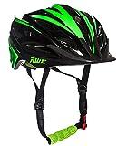AWE® awebladetm gratis 5Jahr Crash Ersatz * in Form Junior Fahrradhelm 52–56cm, schwarz/grün