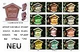 BLACK Briefkasten, Holzbriefkasten mit Holz - Deko HBK-SD-SCHWARZ aus Holz groß schwarz anthrazit dunkel grau lasiert Briefkästen Postkasten Spitzdach Aussen- und Innenbereich