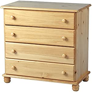 Chest of 4 drawers solid pine bedroom furniture sol for Bedroom furniture amazon