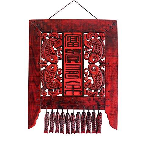 ZUCAI Jahre haben mehr als hängen chinesischen Retro-Schmuck Innentreppe Wanddekoration kreative Gang Wand Veranda Anhänger Massivholzschnitzerei gekochte Farbe verblasst Nicht