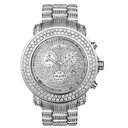 Joe Rodeo Diamant Homme Montre - JUNIOR argent 19.25 ctw