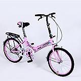 XQ- 20 Zoll Klapprad Single Speed Fahrrad Männer und Frauen Fahrrad Erwachsene Kinder Fahrrad ( Farbe : Pink )