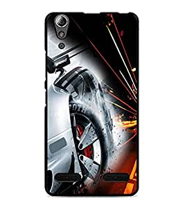 PrintDhaba Alloy Wheel D-4513 Back Case Cover for LENOVO A6000 PLUS (Multi-Coloured)