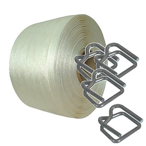 Umreifungs Set mit 13mm Band * Umreifungs Set Bündelset Bündelgerät Textil Umreifungsset Textilbandumreifung * Drahtklammern Textilband * von unipak (Textil-band)