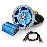 Car Hifi Set Potsdam kompaktes 2.0 System 600W Kompakt Amp Boxen LED-Effekt