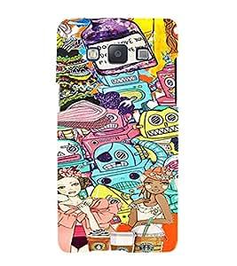 ifasho Designer Phone Back Case Cover Samsung Galaxy A7 (2015) :: Samsung Galaxy A7 Duos (2015) :: Samsung Galaxy A7 A700F A700Fd A700K/A700S/A700L A7000 A7009 A700H A700Yd ( Stud Vector cool Boy )