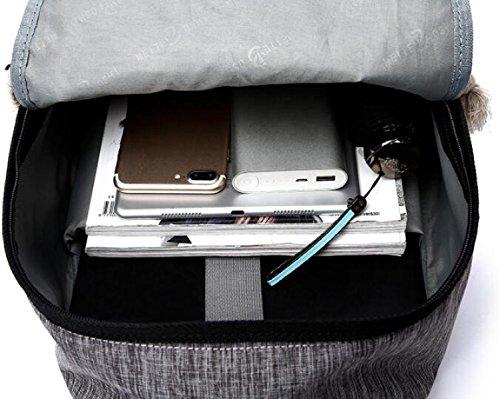 YUEER Herren Rucksack Student Computer Tasche Oxford Tuch Multifunktions Mode Sport Tragen Wasserdicht Atmungsaktiv A