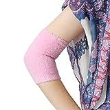 sourcingmap® 1 par de codo mangas de gel de suavizar la piel agrietada hidratante exfoliantes de color rosa